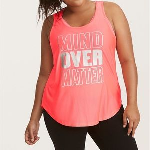 Torrid Active Workout Tank Mind Over Matter Size 1